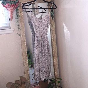 Abercrombie animal print slit dress